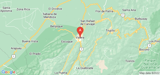 map of Valera, Venezuela