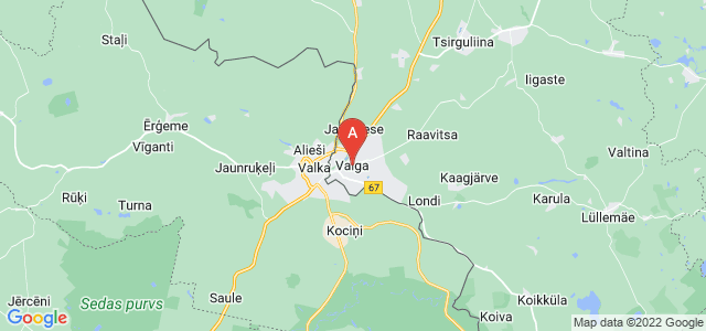 map of Valga, Estonia