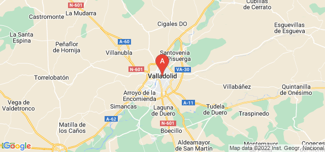 map of Valladolid, Spain