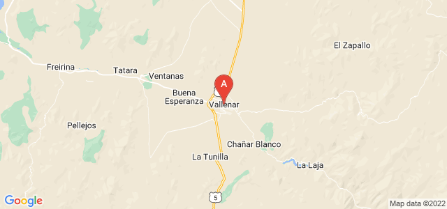 map of Vallenar, Chile