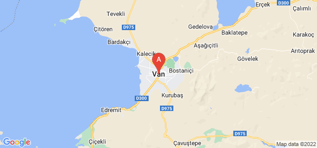map of Van, Turkey