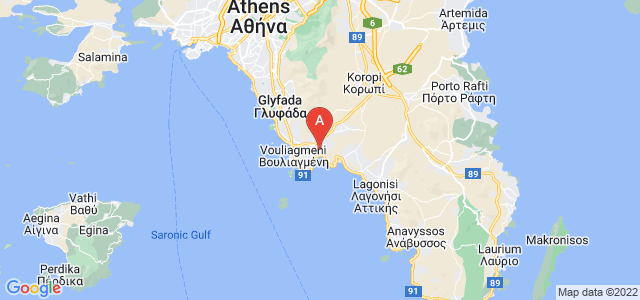 map of Vari, Greece