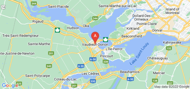 map of Vaudreuil-Dorion, Canada