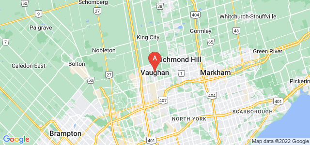 map of Vaughan, Canada