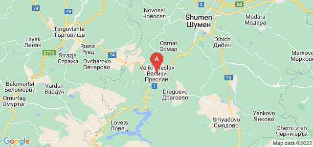 map of Veliki Preslav, Bulgaria