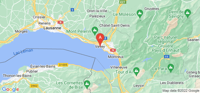 map of Vevey, Switzerland
