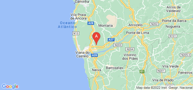 map of Viana do Castelo, Portugal