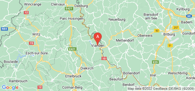 map of Vianden, Luxembourg