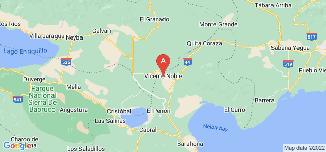 map of Vicente Noble, Dominican Republic