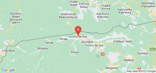 map of Vicovu de Sus, Romania
