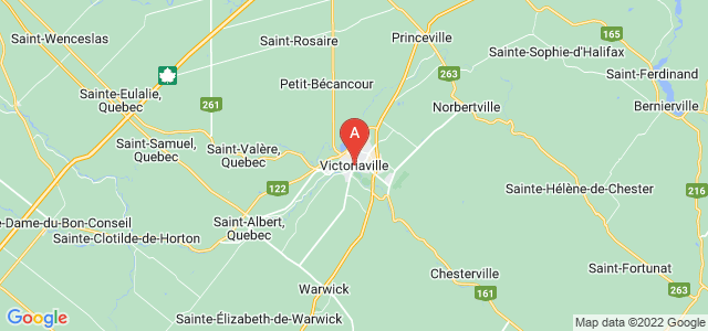 map of Victoriaville, Canada