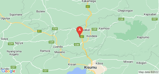 map of Vihiga, Kenya