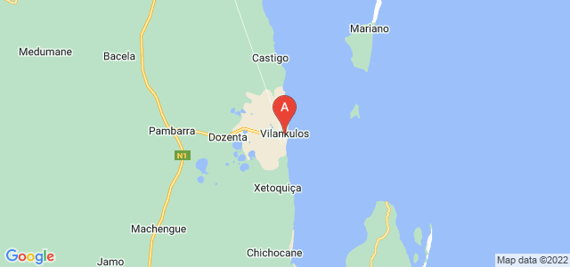 map of Vilankulo, Mozambique