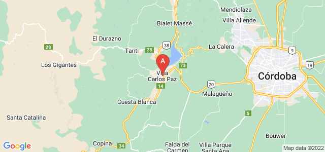 map of Villa Carlos Paz, Argentina