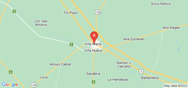 map of Villa María, Argentina