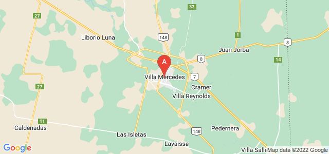 map of Villa Mercedes, Argentina