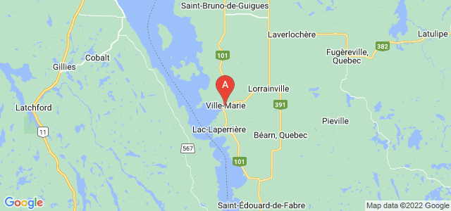 map of Ville-Marie, Canada