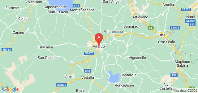 map of Viterbo, Italy