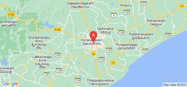 map of Vizianagaram, India