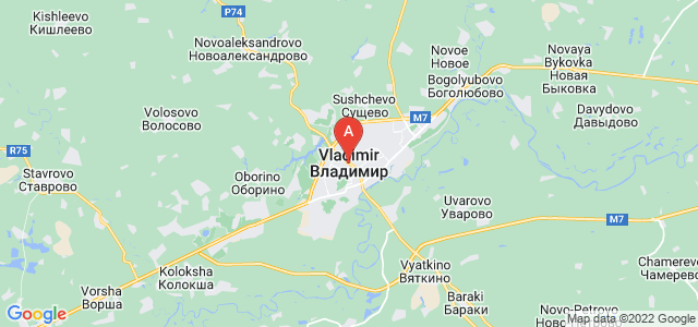 map of Vladimir, Russia