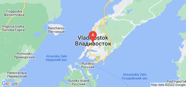 map of Vladivostok, Russia