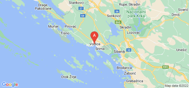 map of Vodice, Croatia
