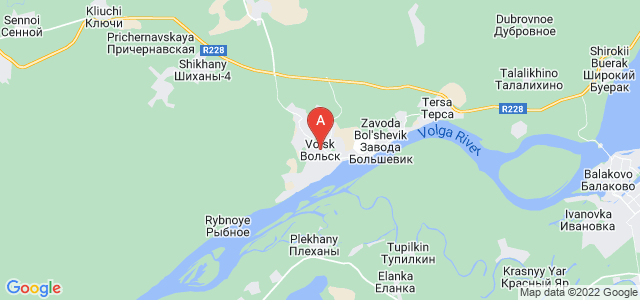 map of Volsk, Russia