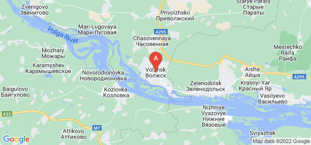 map of Volzhsk, Russia