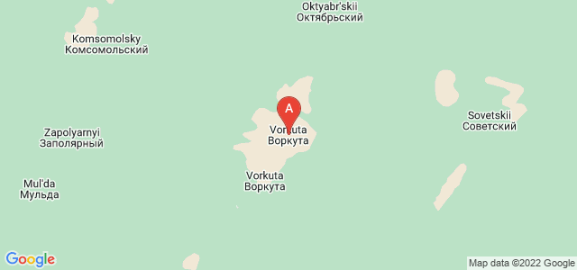map of Vorkuta, Russia