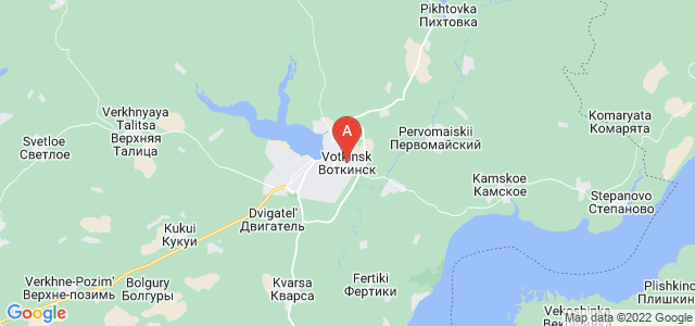 map of Votkinsk, Russia