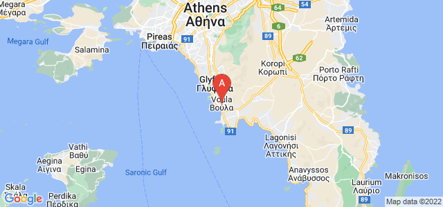 map of Voula, Greece