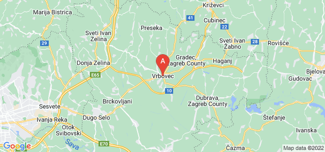 map of Vrbovec, Croatia