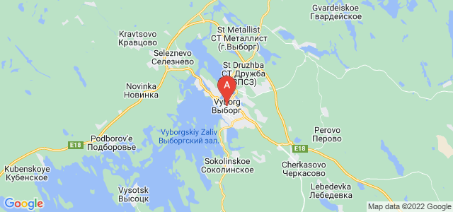 map of Vyborg, Russia