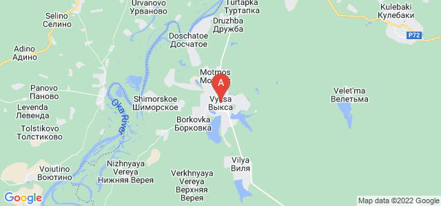 map of Vyksa, Russia