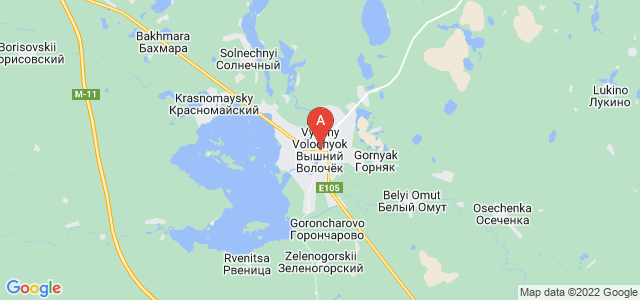 map of Vyshny Volochyok, Russia
