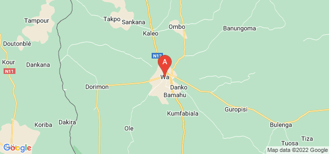 map of Wa, Ghana