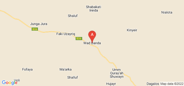 map of Wad Banda, Sudan