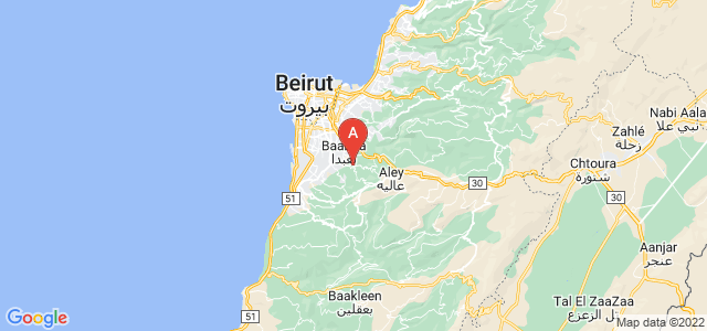 map of Wadi Chahrour, Lebanon