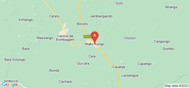 map of Waku Kungo, Angola