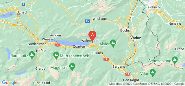 map of Walenstadt, Switzerland