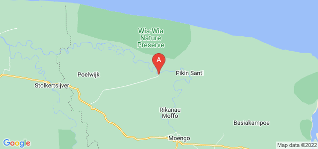 map of Wanhatti, Suriname