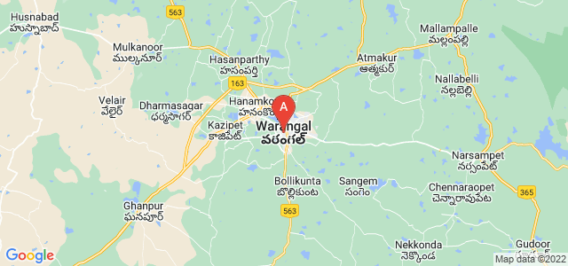 map of Warangal, India