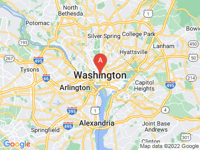 map of Washington D.C., United States of America