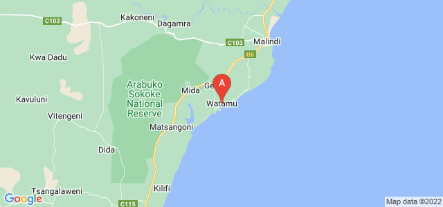 map of Watamu, Kenya
