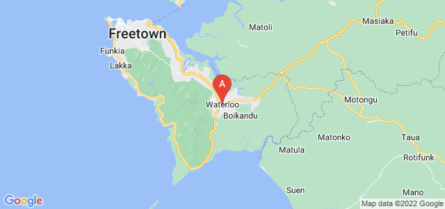 map of Waterloo, Sierra Leone
