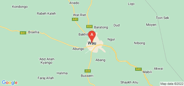 map of Wau, South Sudan
