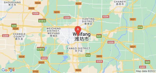map of Weifang, China