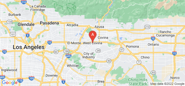 map of West Covina, United States of America