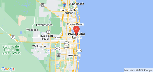map of West Palm Beach, United States of America