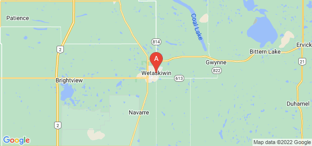 map of Wetaskiwin, Canada